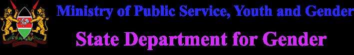 State Department of Gender Logo