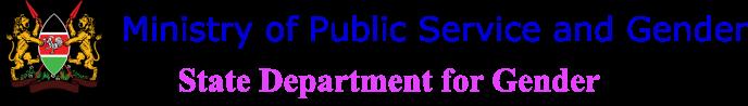 State Department for Gender Logo